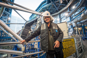 On 28 and 29 September 2015, ESO's Paranal Observatory welcomed a very special visitor — British rock guitarist, singer, songwriter and astrophysicist, Brian May. Famed for being the lead guitarist of the legendary rock band Queen — May also has a passion for astronomy. This picture shows Brian May in one of the domes of the ESO Very Large Telescope.